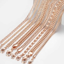 20cm Chains Bracelets for Women 585 Rose Gold Filled