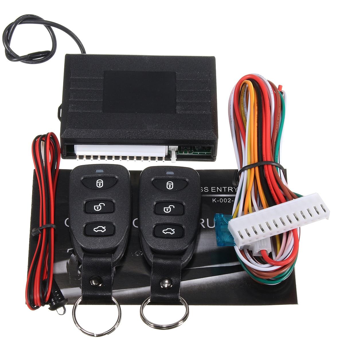 LB-402 12V Car Keyless Entry System Remote Control Center Lock Control Box And Remote Control For Automobile