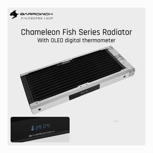 Barrowch FBCFRX-240 oled independente temperatura display inteligente dissipador de calor usando 120mm ventilador