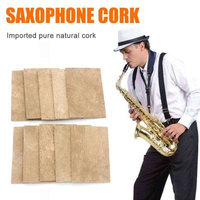 10pcs Saxophone Clarinet Joint Neck Cork Sheet 60x40x2mm For Alto Saxophone Woodwinds Parts Instruments Repair Accessory