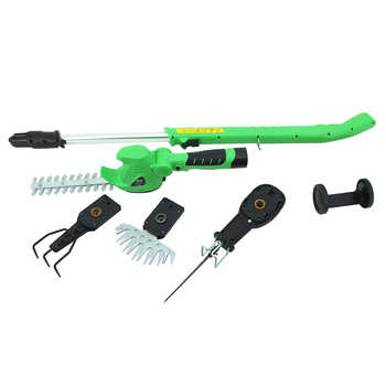 East 10.8V Li-Ion Cordless Hedge Trimmer Grass Trimmer mini cultivator Garden Power Tools ET1007 4in1 3in1