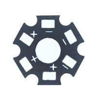 Chips de cuentas LED de 1W, disipador de calor, placa Base de aluminio, sustrato de placa PCB, Kit de estrella de 20mm, tubo de disipador térmico de refrigeración artesanal, tira de luz