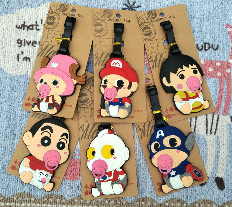 1pcs One Piece Baby Anime Travel Brand Luggage Tag Suitcase ID Address Portable Tags Holder Baggage Labels New