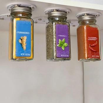 Imanes enlatados para almacenamiento de alimentos, nevera, colgadores de comida para trabajadores con forma de gancho, ahorran espacio en su despensa