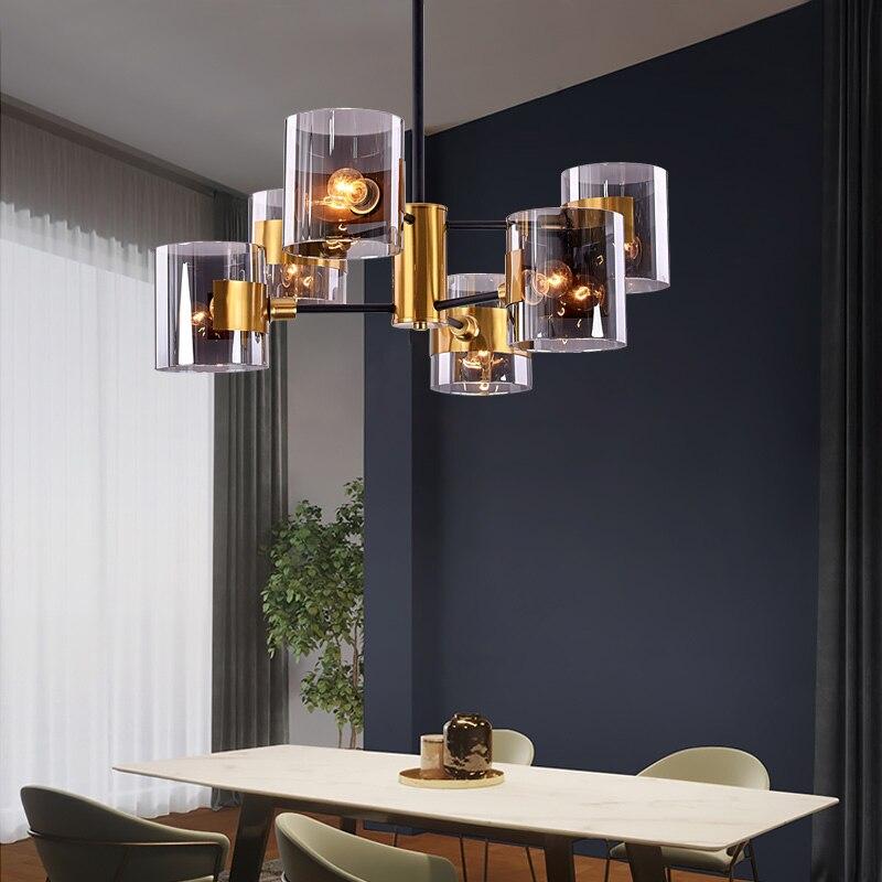 Işıklar ve Aydınlatma'ten Kolye ışıkları'de Iskandinav Modern Cam Kolye Işıkları Lamba Demir sarkıt aydınlatma Oturma Odası Yemek Odası Mutfak Başucu Yatak Odası Loft Asılı Lamba title=