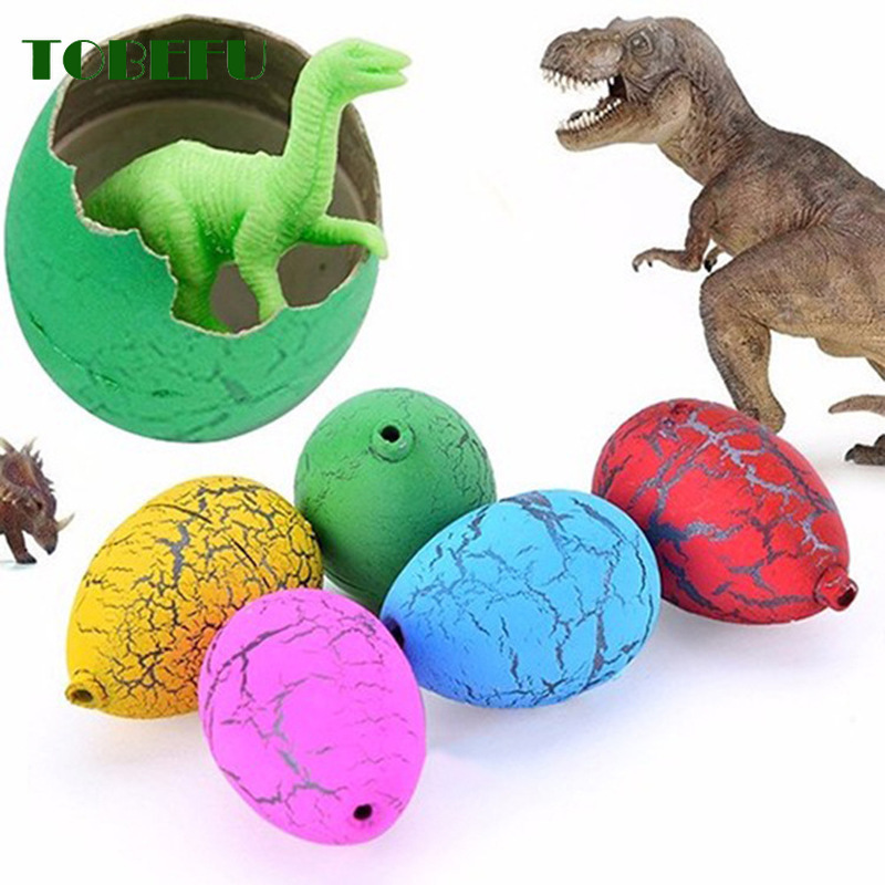 6Pcs Funny Magic Hatching Growing Dinosaur Eggs Add Water Growing Dinosaur Novelty Gag Kids Toys For Children Educational Gift