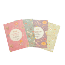 1book Floral series flower and bird color notepad Mini Notepad  for kids Student Gift 4 colors