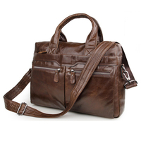 MAHEU Brown Coffee Genuine Leather Laptop Bag Classic Design Men Working Tote Bag Daily Use Handbag For Office Man Formal PC Bag