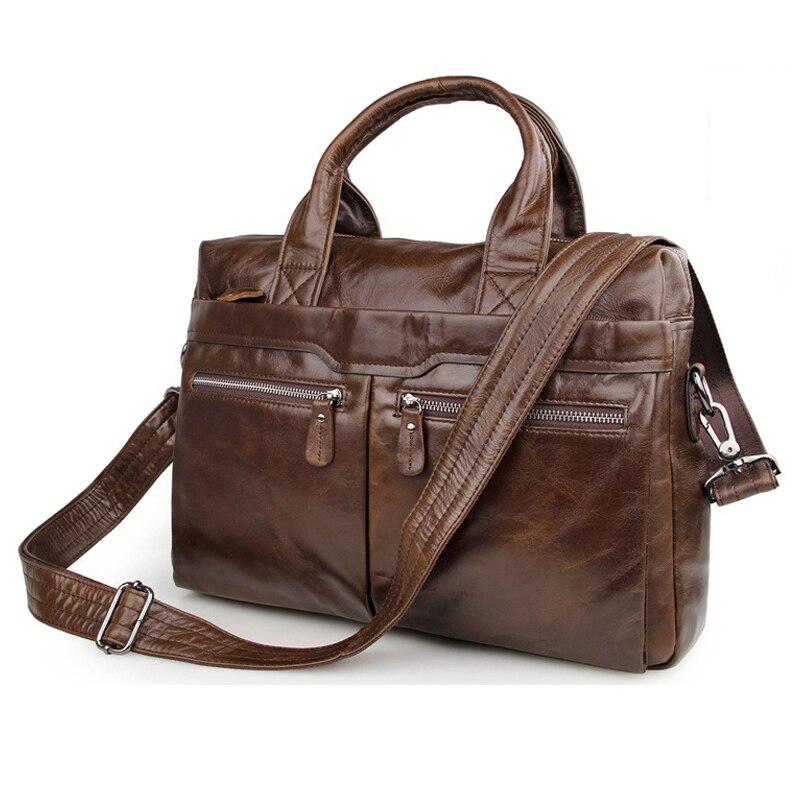 MAHEU marron café véritable en cuir pochette d'ordinateur Design classique hommes travail sac fourre-tout usage quotidien sac à main pour bureau homme formel PC sac