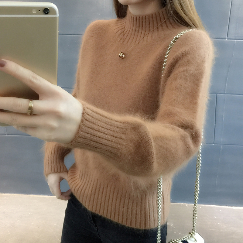 Sweater Female 2020 New Loose Comfortable Soft Pullover Sweater Regular Bottoming Sweater Women Tricot Jersey Jumper Pull Femme