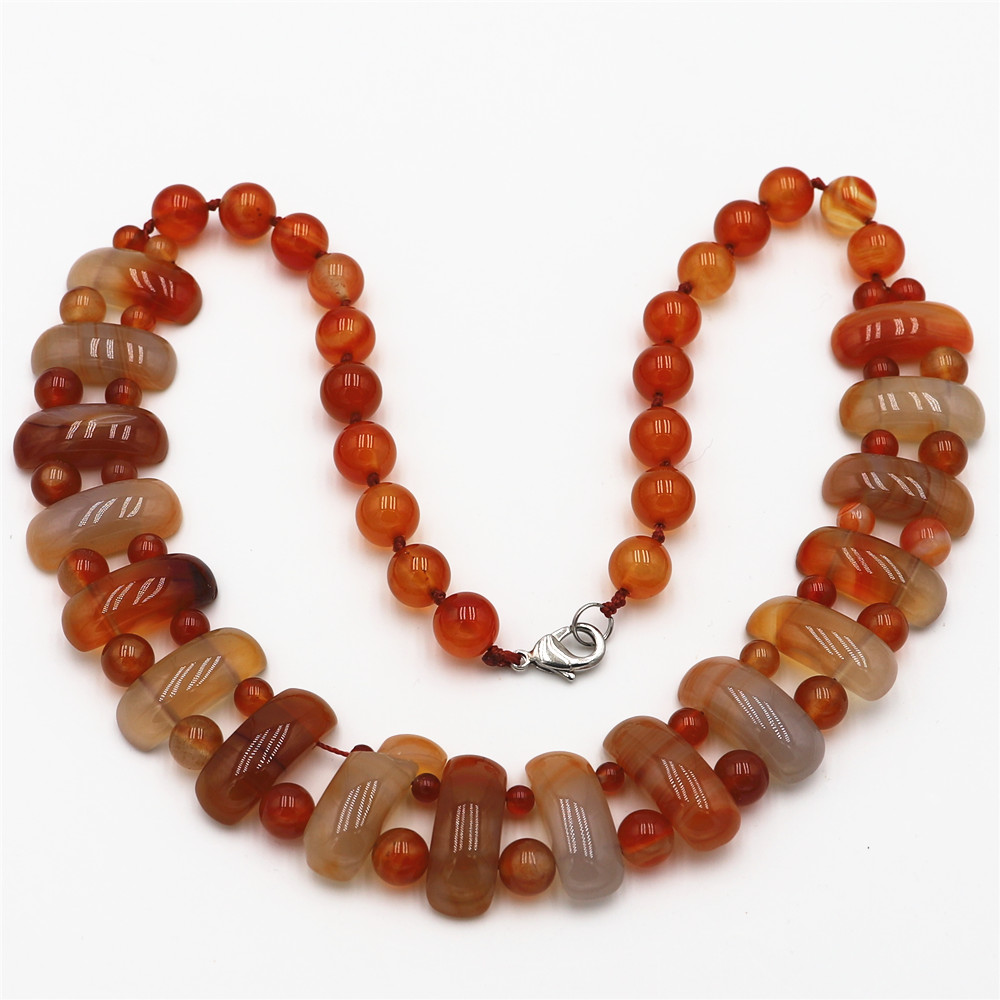 Natural Crystal Tiger's Eye Stone Decorated with Turquoises Mixed Stone Beads To Make Vintage-style Jewelry Necklaces