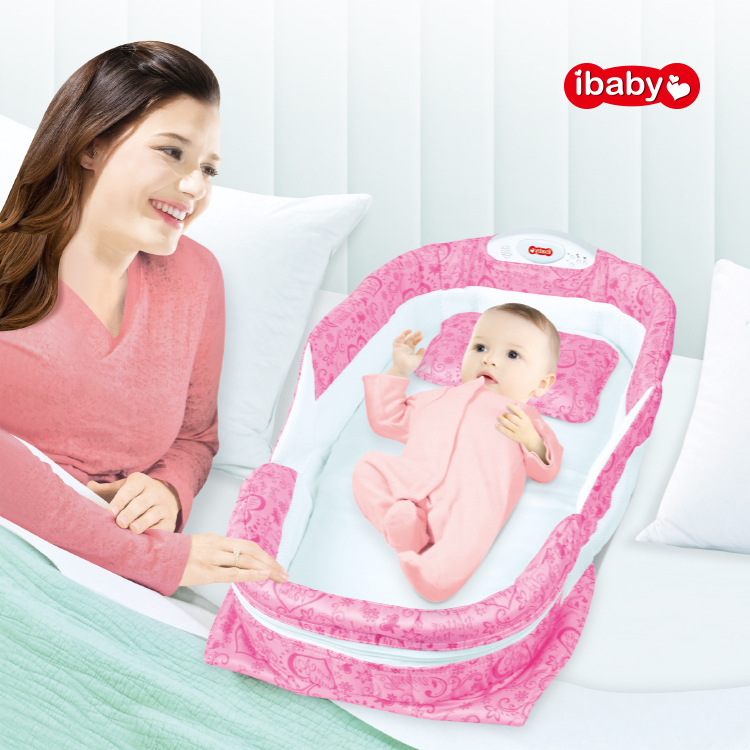 New Style Infant Portable Partition Bed Light Included Light Music Multi-functional Pacify Bed Perfect For Infant Bed