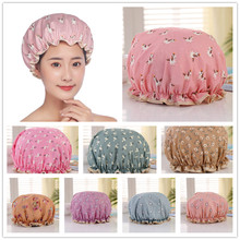 Waterproof Women Shower Cap Satin Beanie Hair Bonnet Bath Ac
