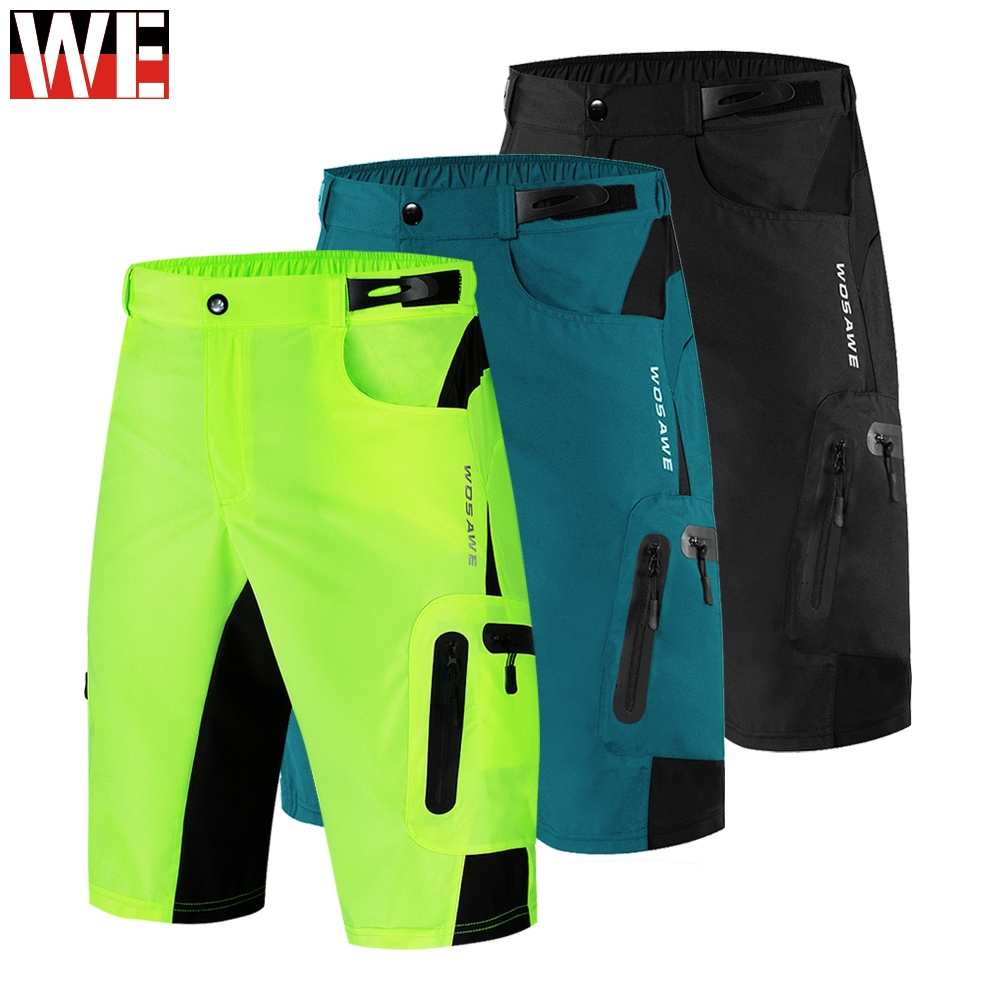 WOSAWE Motocicletas Calções Quick Dry Respirável Multi-bolsos Calções de Alta Qualidade Esportes Ao Ar Livre Corrida De Motocross Vestuário