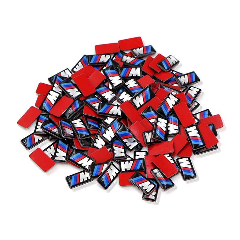 50pcs Car Epoxy Sticker Car Steering Wheel Sticker For Bmw M Sticker X1 X3 X4 X5 X6 X7 E46 E90 F20 E60 E39 F10 Car Accessories