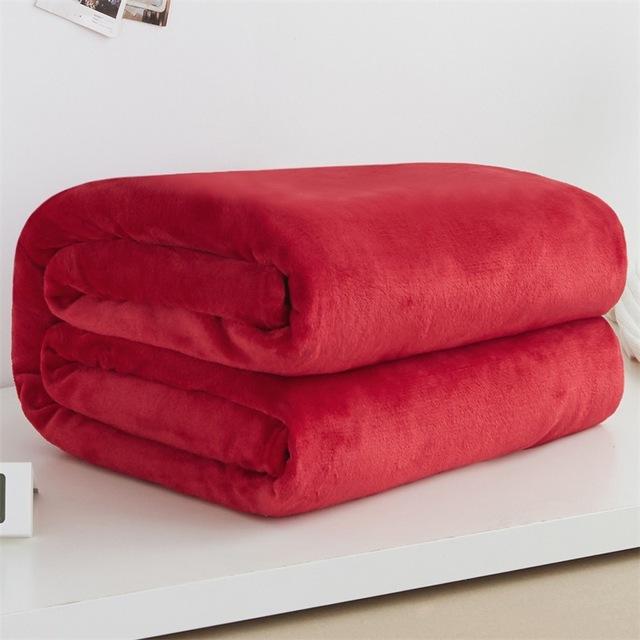 Woollen blanket blanketry Bedclothes Bedroom accessories Bed Blanket Solid Super Soft Air-conditioned pet quilt comfortable New