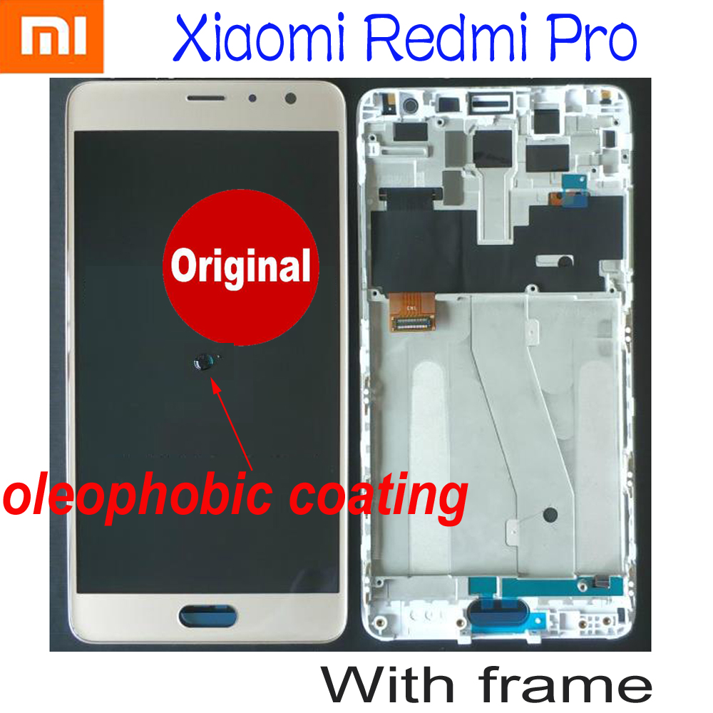 100% Original OLED Best LCD Display Touch Panel Screen Digitizer Assembly Sensor + Frame For Xiaomi Redmi Pro hongmi Pro Prime title=