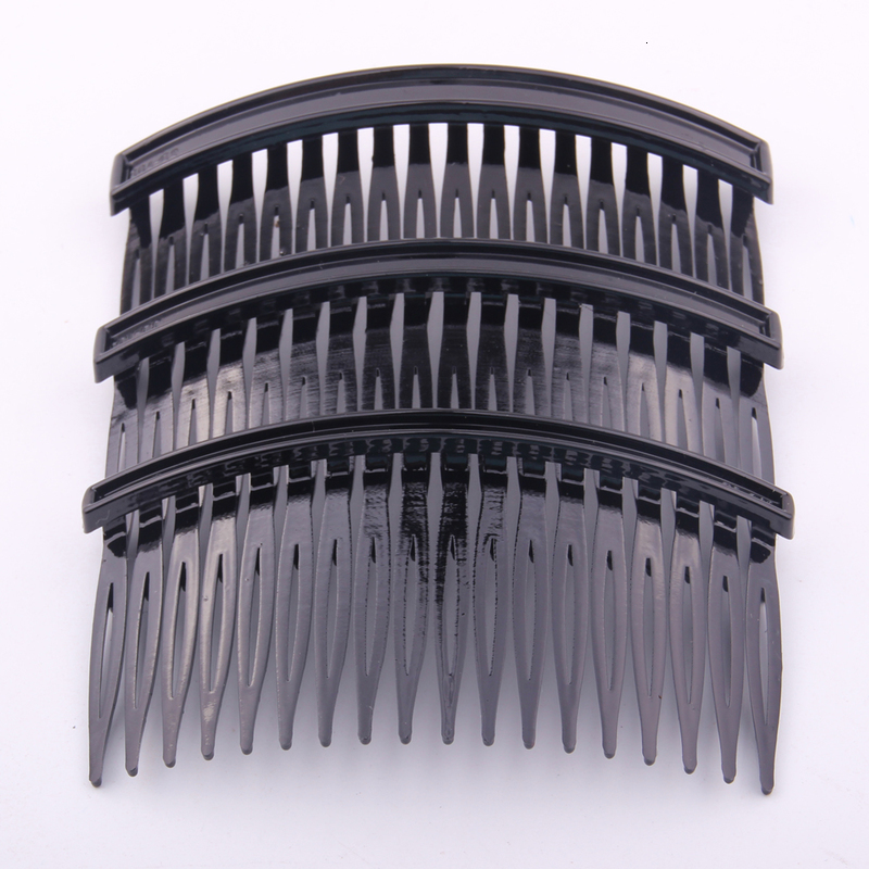 9*5cm DIY  Hair Comb With 18 Teeth for girls women hair using accessory making black colors 10 pcs Per Lot