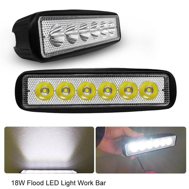 6 Inch 18W DRL LED Work Light 12V 24V 4WD For Off Road Truck Bus Boat Fog Lights Car Light Assembly ATV Daytime Running Light