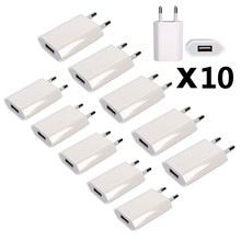 10 Pcs/Lot USB Cable Wall Travel Charger Power Adapter USB C Cable EU Plug for iPhone XS MAX XR X 8 7 6 Plus 5s 5c SE 4s 3GS