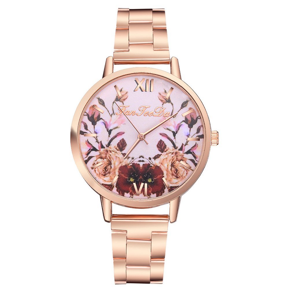 2020 Women Watches Bracelet Set Rose Ladies Bracelet Watch Casual Leather Quartz Wristwatch Clock Relogio Feminino