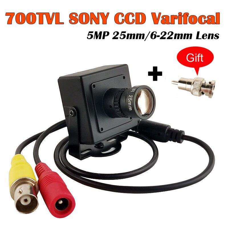 CCTV Mini Camera High Resolution Sony CCD Effio-E 700TVL25mm 6-22mm Lens  Metal Security Surveillance CCTV Camera Car Overtaking