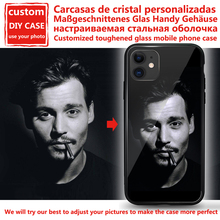 Custom Personalized Phone Case Tempered Glass For iPhone 6 7 8Plus X 11 12 Pro XS MAX XR SE 2020 Cover Customized Case Design