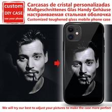 Funda personalizada de cristal templado para teléfono móvil, Funda personalizada de diseño para iPhone 6, 7, 8Plus, X, 11, 12 Pro, XS, MAX, XR, SE, 2020