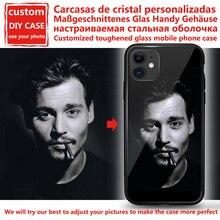 カスタムパーソナライズ電話ケースiphone用強化ガラス6 7 8プラスx 11 12プロxs最大xr se 2020カスタマイズされたケースデザイン