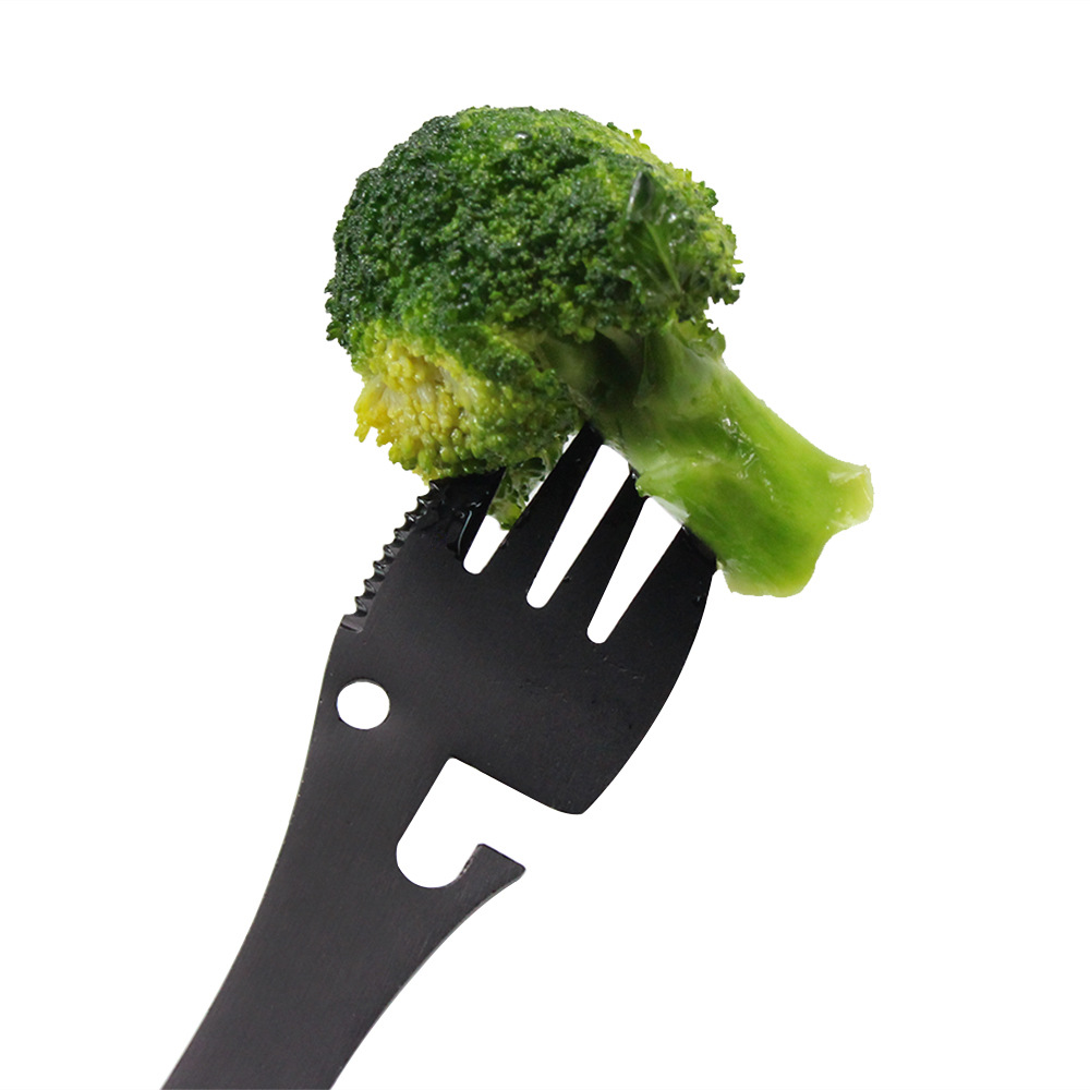 Image 5 - Mutifuntional Spork Outdoor Camping Cookware Spoon Fork Outdoor Picnic Tableware Kitchen Tool  Bottle Opener Portable Tool-in Outdoor Tablewares from Sports & Entertainment