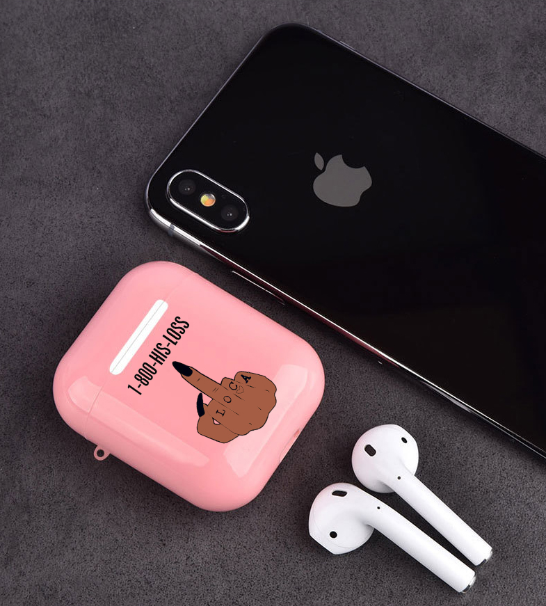 Make Money Not Friends Kash Afro Black Girl Case For Airpods 2 1 Earphone Cover For Airpods Soft TPU Pink Earphone Cover Capa