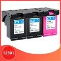3PK совместимый для hp 123 XL сменный чернильный картридж для hp 123 123XL с чернилами hp Deskjet 1110 2130 2132 2133 2134 3630 3632 3637 3638