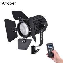Andoer LS 60S 3200K 5600K LED Video Light Photographic Lighting Bi Color Temperature Output CRI 95+w/Bard Door Remote Controller