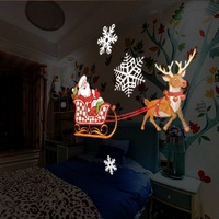 Christmas Laser Projector Dynamic 12 Patterns Santa Claus Indoor Outdoor Animation Effect Snowflake Snowman Remote Projector #