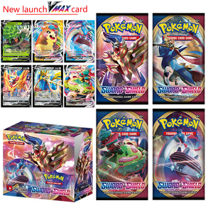 2020 324pcs Pokemon Action Figures Trading Card Game Set Booster Box Sword Shield Vmax New English Edition Tomy Children Toy