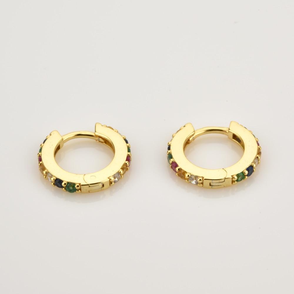 ANDYWEN 925 argent Sterling clair petit 7mm Huggies femmes mode luxe cristal cerceaux Piercing bijoux 5