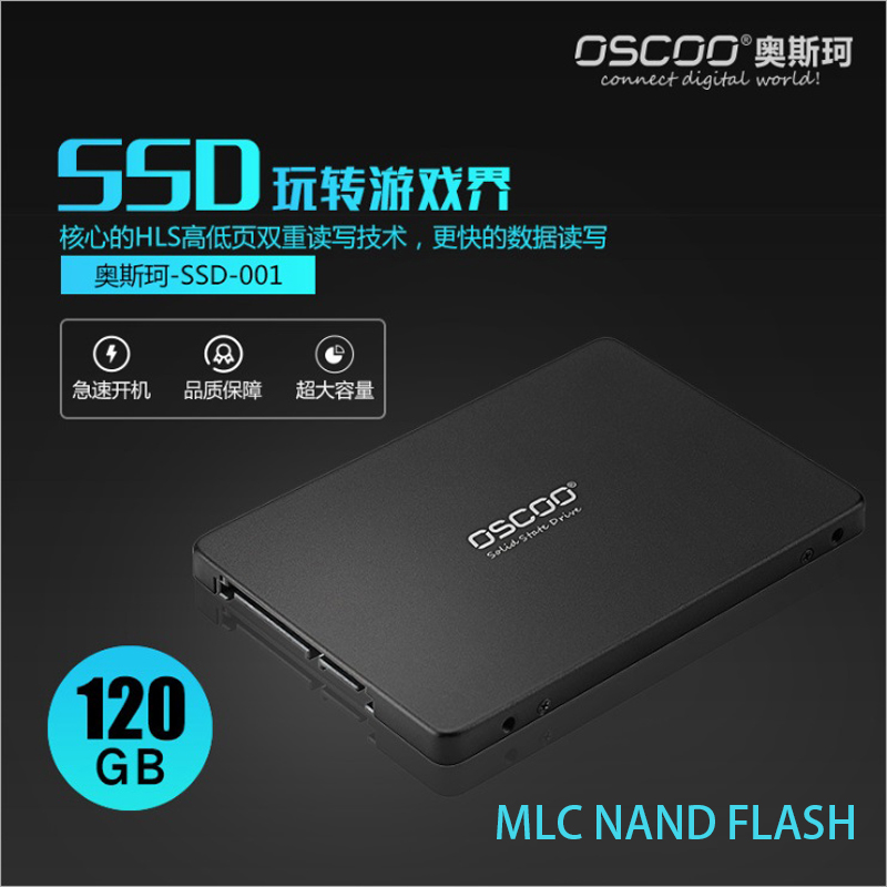 Oscoo MLC <font><b>SSD</b></font> HDD 2.5 SATA3 <font><b>SSD</b></font> 120GB <font><b>SATA</b></font> III 240GB <font><b>SSD</b></font> 480GB <font><b>SSD</b></font> 960gb 7mm Internal Solid State Drive for Desktop <font><b>Laptop</b></font> PC image