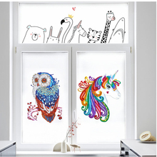 5D Diamond Painting Sticker Animal Arts Kits for Kids DIY Mosaic Sticker Cute Colorful Handwork Kits Arts and Crafts Set накидка для дивана arts and crafts