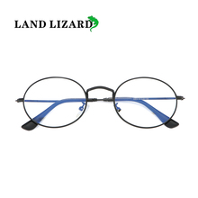 New flat mirror metal anti-blue light glasses round frame me