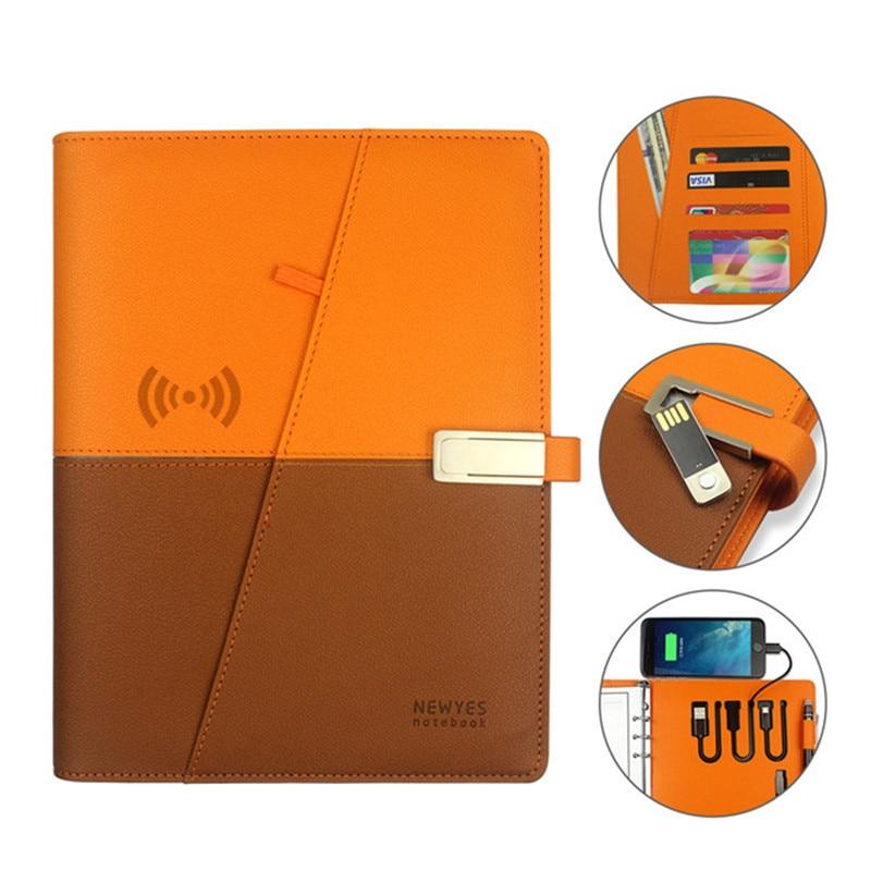Newyes A5 Smart effaçable sans fil chargeur portable avec PowerBank Usb lecteur Flash bloc-notes connexion App fournitures de bureau scolaire