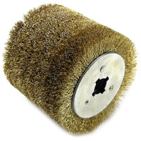 Wire Brush Wheel 0.3Mm Wood Open Paint Polishing Deburring Wheel for Electric Striping Machine|Lifting Tools & Accessories| |  -