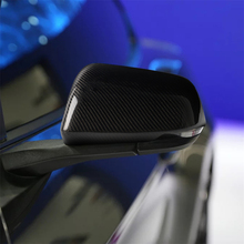 Carbon Fiber Exterior Decoration Side Mirror Rearview Mirror Frame Cover Trim for Ford Mustang 2015-2019 U.S. Edition with Light abs carbon fiber grain side mirror cover trim for ford f150 2015 2019 raptor tuning reverse mirror car accessories
