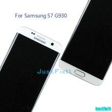 Do SAMSUNG GALAXY S7 G930F g930 g930FD wypalić cień wyświetlacz LCD ekran dotykowy Digitizer z ramą Super Amoled