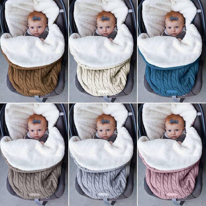 Speedline 68*38CM Baby Blanket Warm Baby Sleeping Bag For Winter Cotton Knitting Envelope Swadding Wrap Stroller Accessories