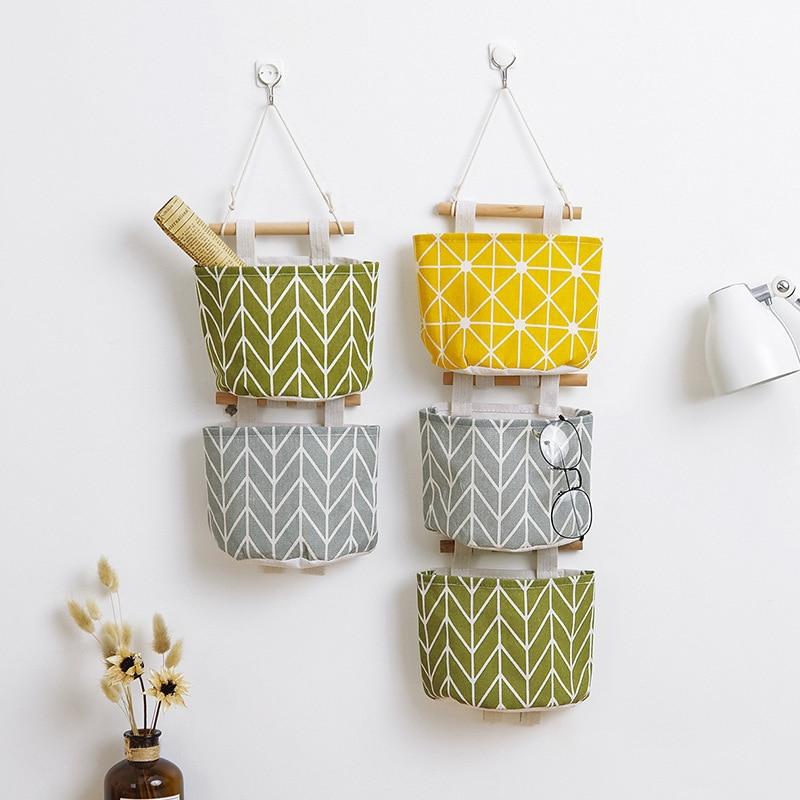 Bag Storage-Basket Makeup-Rack Hanging-Organizer Waterproof-Bag Cotton-Line Single-Layer-Holder