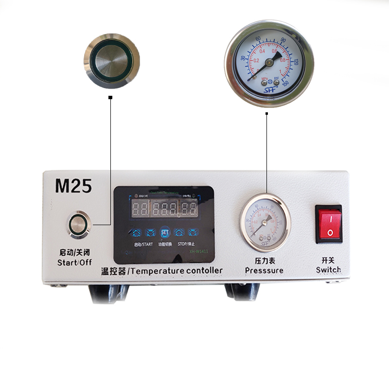 M25  LCD Touch Screen Air Bubble Remover High Pressure LCD Refurbishment Machine Need External Pump For IPhone Samsung