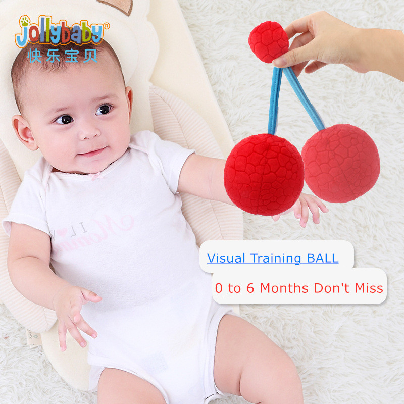 Newborn Toys Baby Vision Training Ball Black White Red Ball 0-3 Month 6 Month 1-Year-Old Baby Ball Toys SZ66