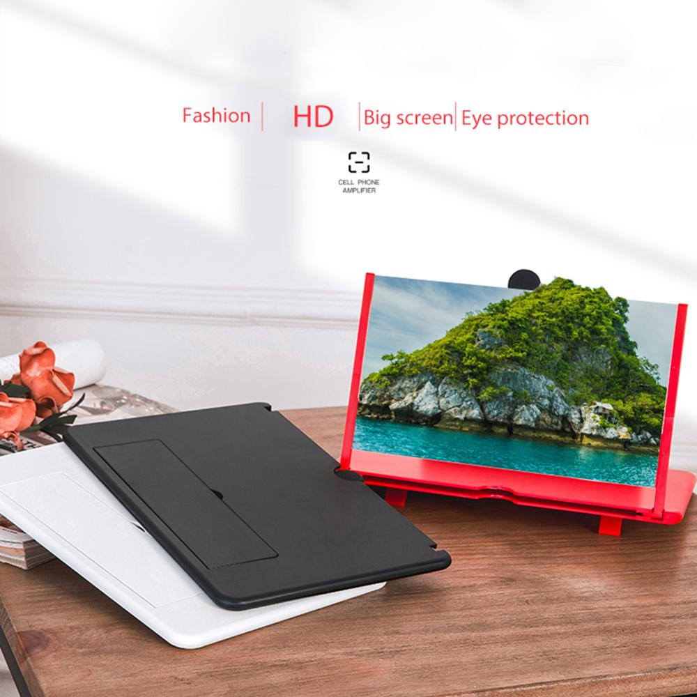12-Inch Mobile Phone Screen Amplifier Pull-pull Stretch 3D Mobile Phone Magnifier,Movie Amplifier For All Smartphone