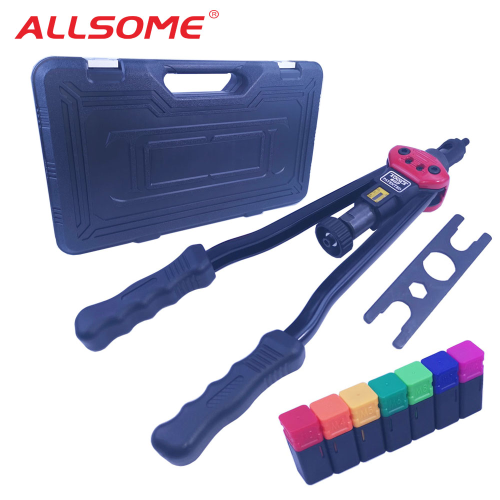 "ALLSOME BT-607 16"" Heavy Duty Manual Riveter Guns Hand Riveting Tool Hand Rivet Nut Gun"