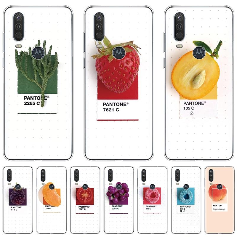 Candy Color Fruit Print Cases For Motorola Moto One Action E5 E6 G8 G3 G4 G5 G5S G6 G7 Power EU Play Go Plus P40 P50 Coque Clear